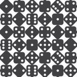 Seamless dice pattern. Vector illustration Stock Image