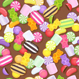 Seamless different sweets pattern. Royalty Free Stock Images