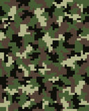 Seamless digital camouflage Stock Image