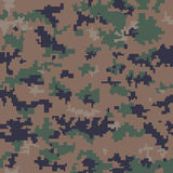 Seamless Digital Camouflage Pattern Stock Photos