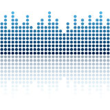 seamless digital equalizer background Royalty Free Stock Photography