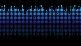 Seamless digital equalizer background Stock Images