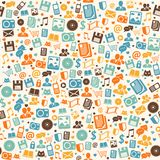 Seamless digital pattern background Stock Images