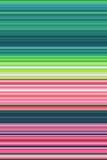 Seamless Digital Strips by One Pixels. Pink, Green, Turquoise Royalty Free Stock Photo