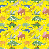 Seamless Dinosaur pattern stock illustration