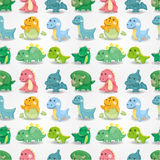 Seamless dinosaur pattern Stock Photography