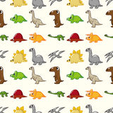 Seamless dinosaur pattern Royalty Free Stock Photos