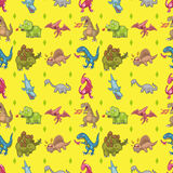 Seamless dinosaur pattern Royalty Free Stock Photography