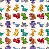 Seamless Dinosaurs mönstrar Royaltyfri Foto