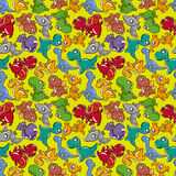 Seamless Dinosaurs pattern. Vector drawing Royalty Free Stock Photography