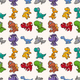 Seamless Dinosaurs pattern. Cartoon vector illustration Royalty Free Stock Photo