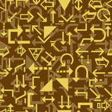 Seamless direction sign pattern Royalty Free Stock Photos