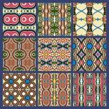 Seamless dirty dark blue vintage geometric pattern Stock Photo