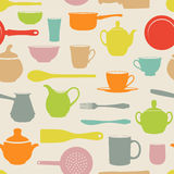 Seamless dishes Stock Images
