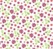 Seamless ditsy texture with flowers Royalty Free Stock Photography