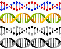 Seamless DNA Strands Concept Royalty Free Stock Photo