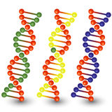 Seamless DNA strands. Royalty Free Stock Images