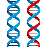 Seamless DNA Symbol. On white background. Vector Illustration Royalty Free Stock Photography