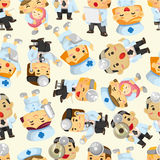 Seamless Doctor And Nurse Pattern Stock Photo