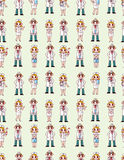 Seamless doctor and nurse pattern Royalty Free Stock Photos