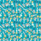 Seamless doctor and nurse pattern Royalty Free Stock Image