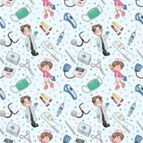Seamless Doctor Pattern Stock Photos