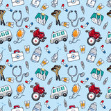 Seamless Doctor Pattern Royalty Free Stock Images