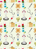 Seamless doctor pattern Royalty Free Stock Image