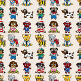 Seamless dog pattern Royalty Free Stock Images