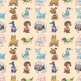 Seamless dog pattern Stock Photo