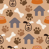 Seamless dog pattern, vector  Stock Photos