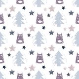 Seamless dog pattern vector illustration. Children`s seamless texture pattern Royalty Free Stock Images