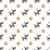 Seamless dog pattern vector illustration. Children`s seamless texture pattern Stock Photos