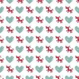 Seamless dog pattern vector illustration. Christmas seamless texture pattern Stock Photo