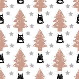 Seamless dog pattern vector illustration. Children`s seamless texture pattern Stock Images