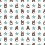 Seamless dog pattern vector illustration. Children`s seamless texture pattern Stock Photography