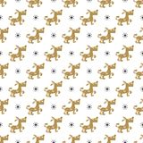 Seamless dog pattern vector illustration. Christmas seamless texture pattern Royalty Free Stock Photography