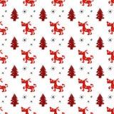 Seamless dog pattern vector illustration. Christmas seamless texture pattern Royalty Free Stock Photo