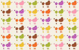 Seamless dogs fabric pattern Stock Images