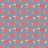 Seamless dogs fabric pattern Royalty Free Stock Photo
