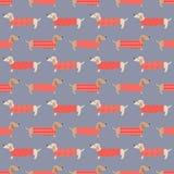 Seamless dogs fabric pattern Royalty Free Stock Photo