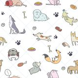 Seamless Dogs pattern royalty free illustration