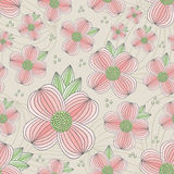 Seamless Dogwood Blossom Pattern Royalty Free Stock Photo