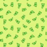 seamless dollar royaltyfri illustrationer