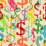 Seamless dollar sign background pattern Stock Photos