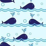 Seamless dolphin pattern Stock Photography