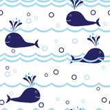 Seamless dolphin pattern Stock Image