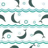 Seamless dolphin pattern Royalty Free Stock Photo