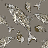 Seamless dolphin pattern Royalty Free Stock Photography