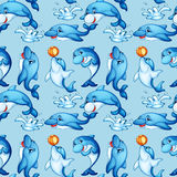 Seamless dolphin Royalty Free Stock Photography